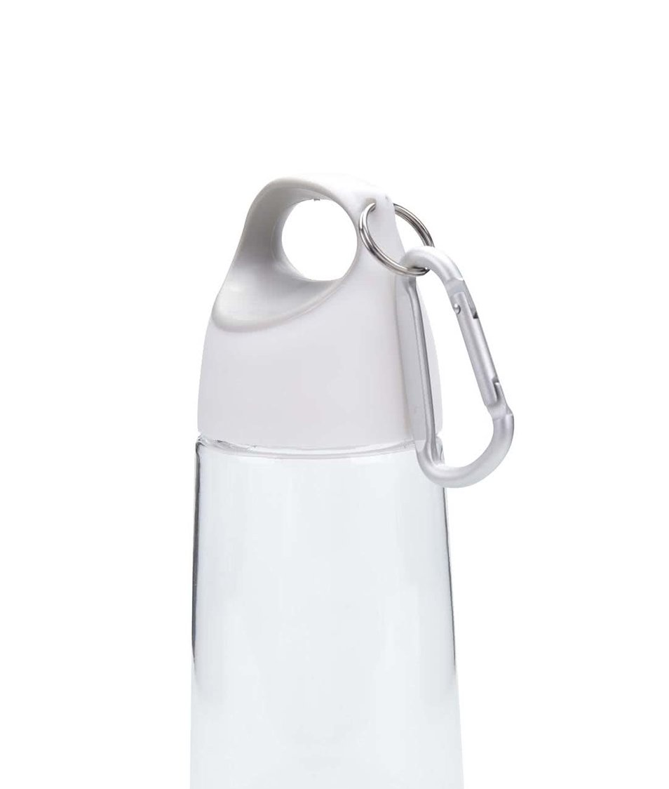 Šedo-bílá láhev s karabinou XD Design Bopp Mini