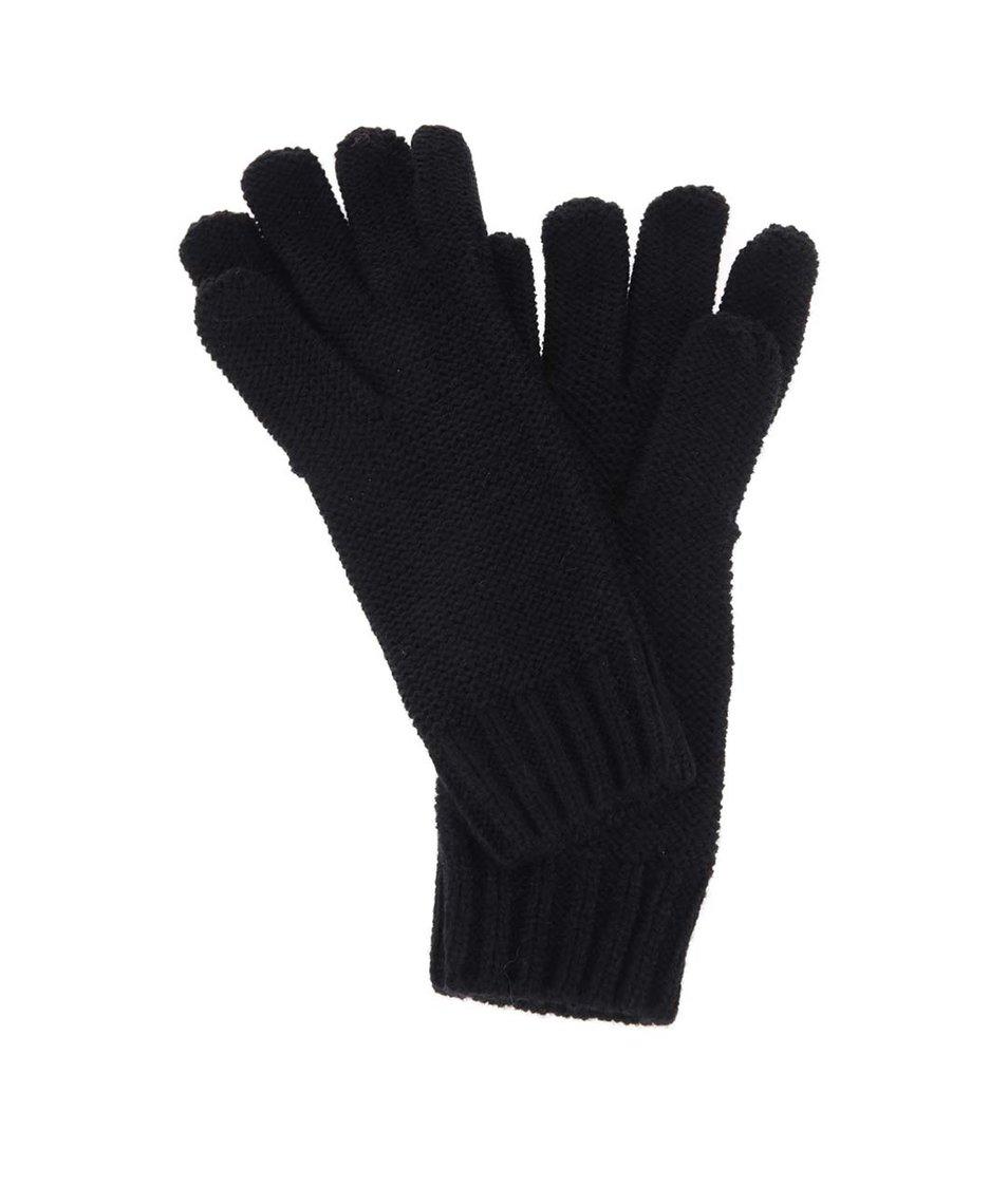 Černé rukavice s nášivkou Roxy Reef Breaks