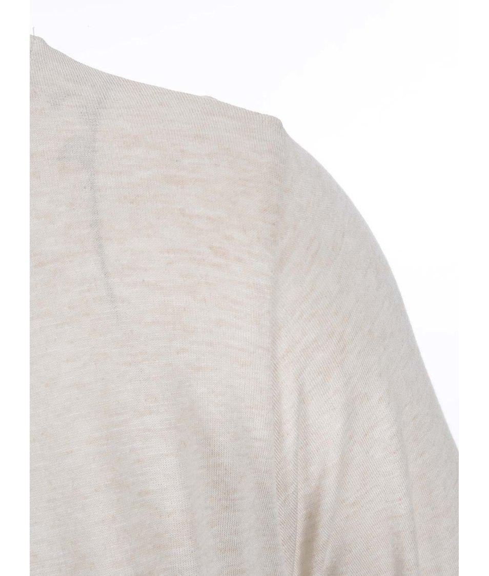 Béžové dámské tričko s dlouhým rukávem s.Oliver
