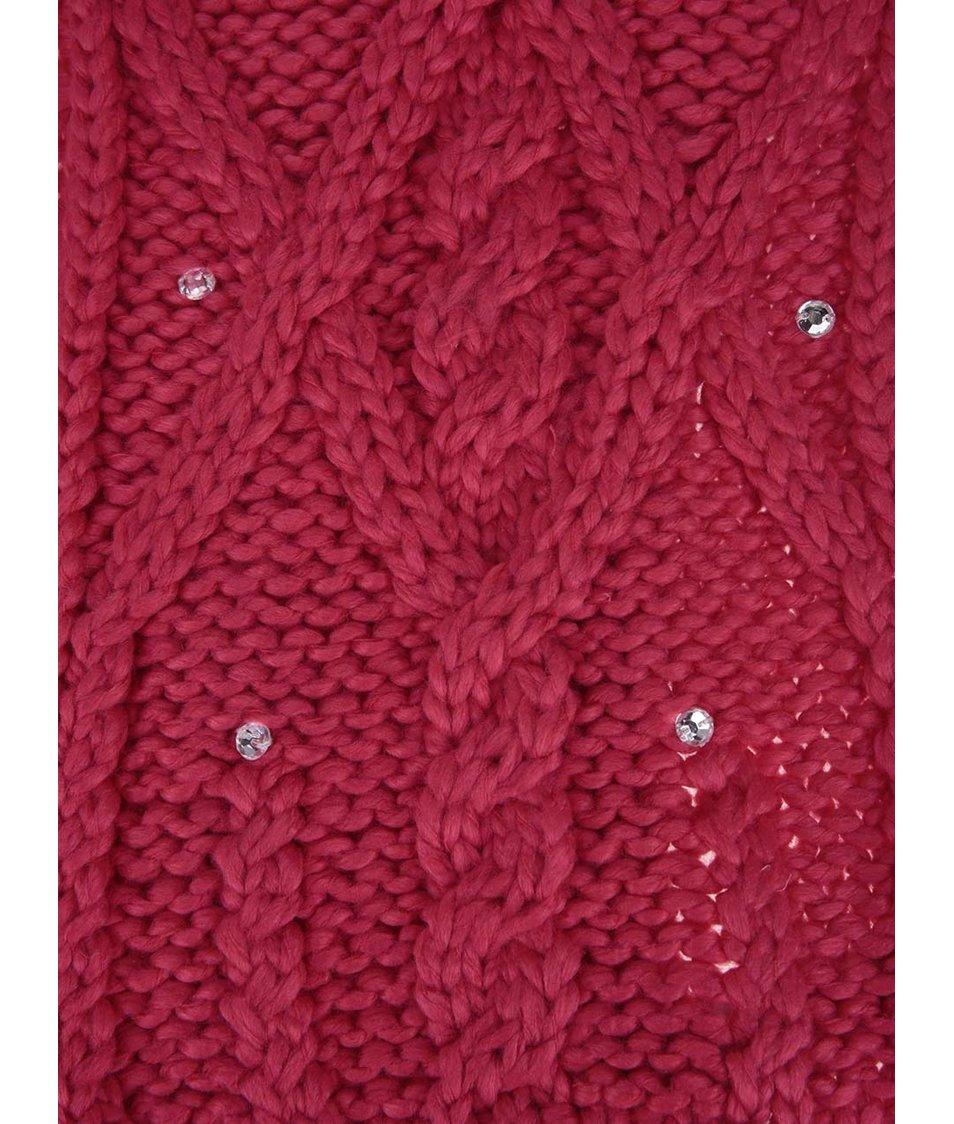Růžová šála s blyštivými kamínky Roxy Shooting Star