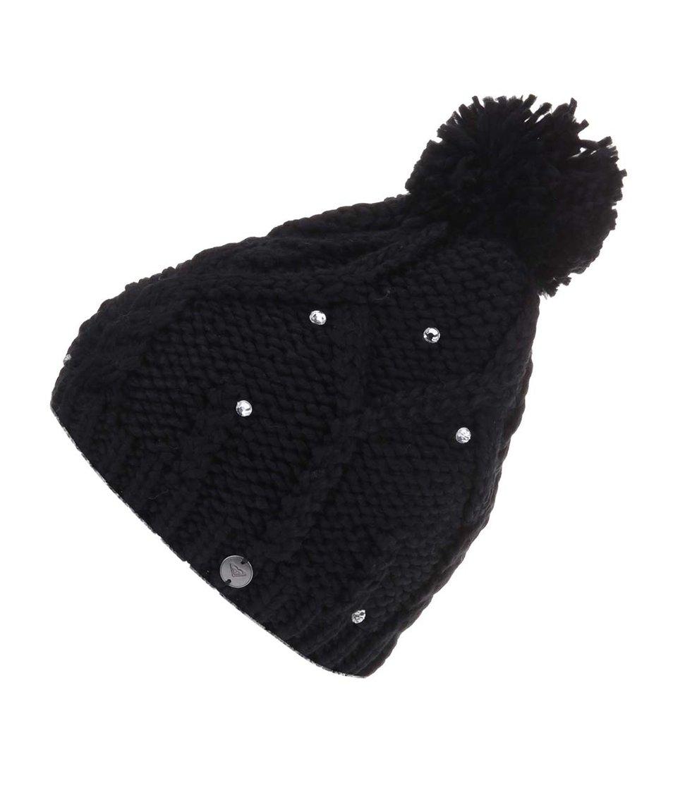 Černá zimní čepice s bambulí Roxy Shooting Star