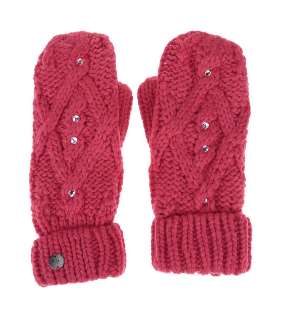 Růžové rukavice s kamínky Roxy Shooting Star