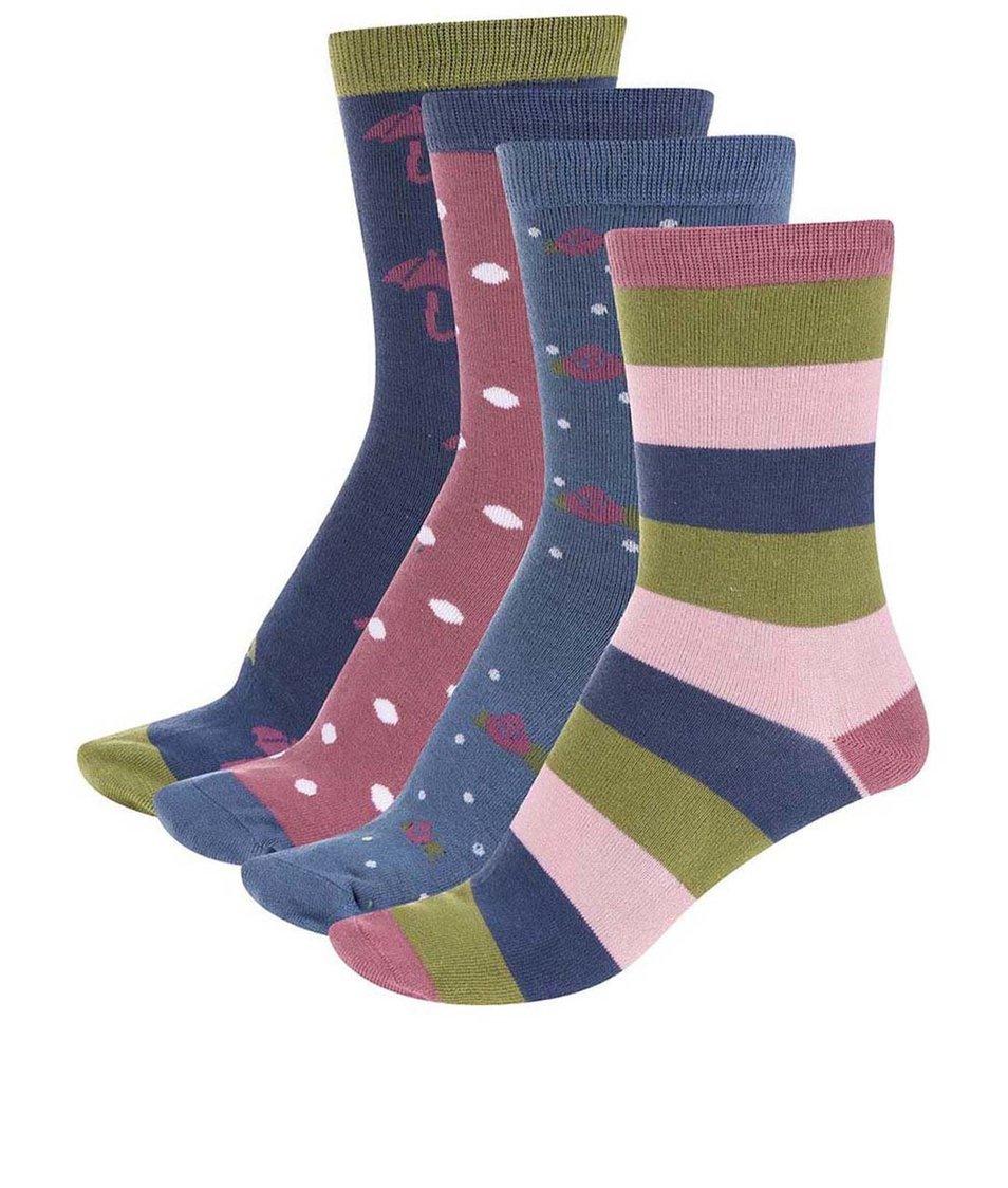 Dárková sada čtyř párů dámských bambusových ponožek Braintree Autumn Box