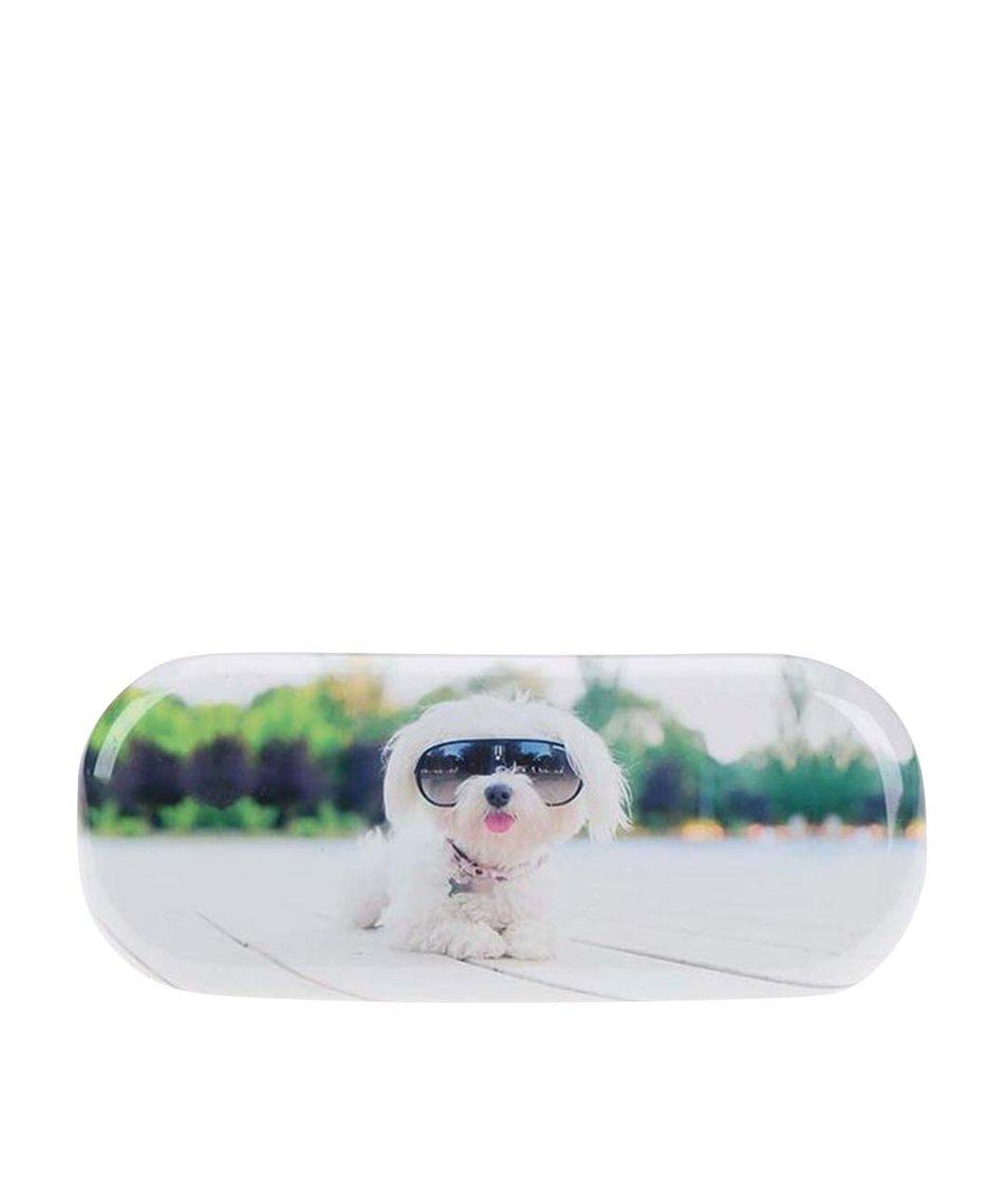 Bílé pouzdro na brýle Catseye London Diva Dog