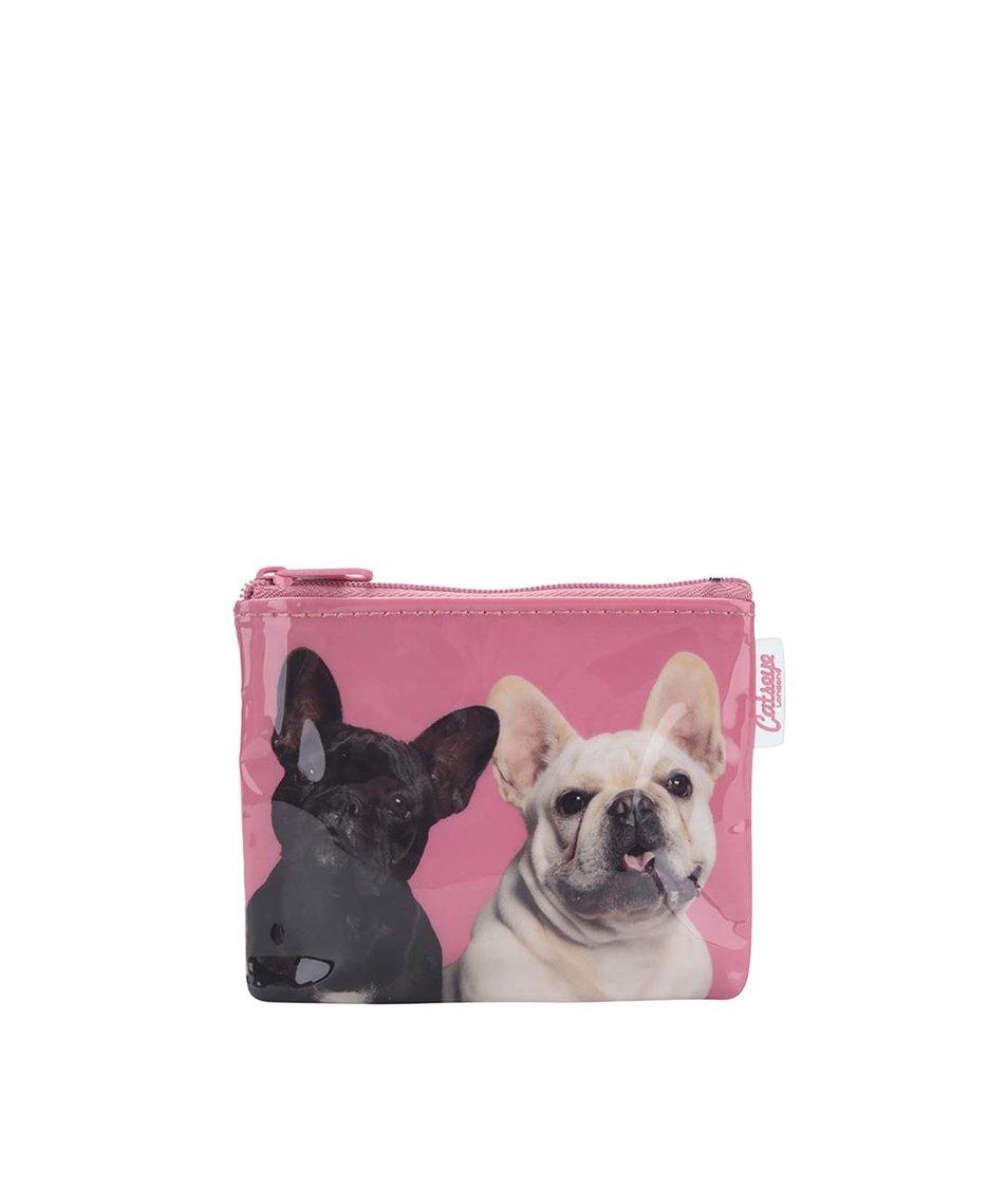 Růžová peněženka na drobné Catseye London Mr and Mrs