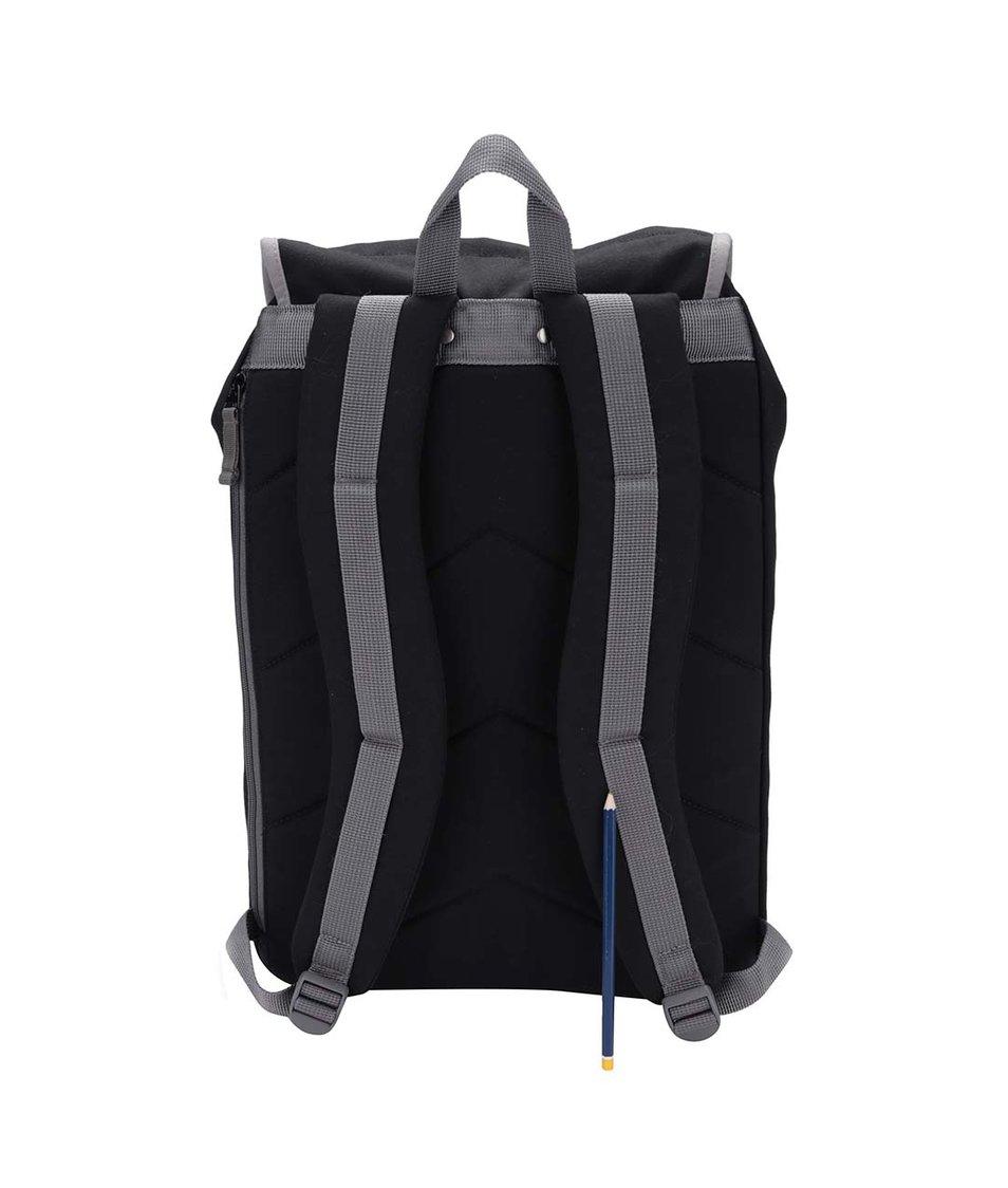 Šedo-černý větší batoh s kapsami Ridgebake Kay