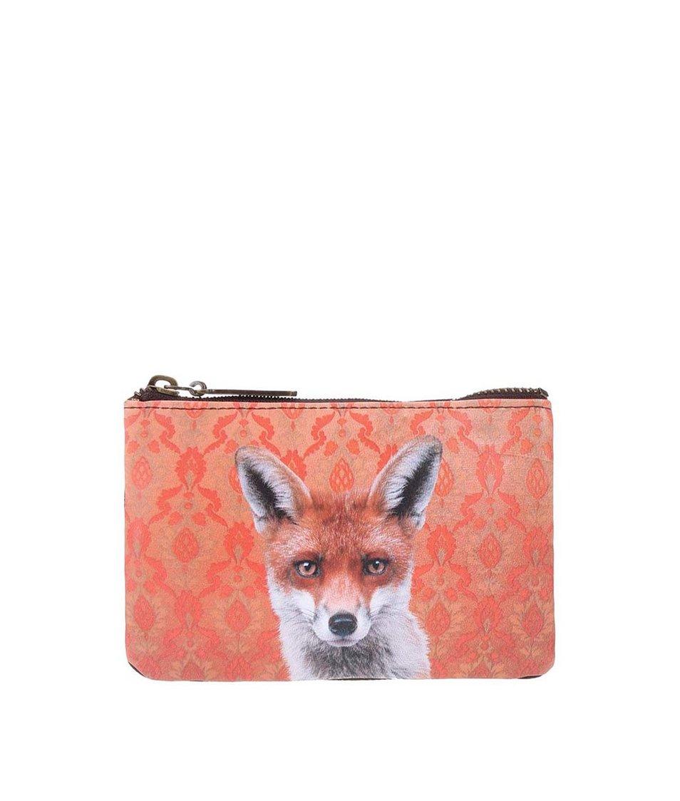 Oranžová taštička na drobnosti Catseye London Fox