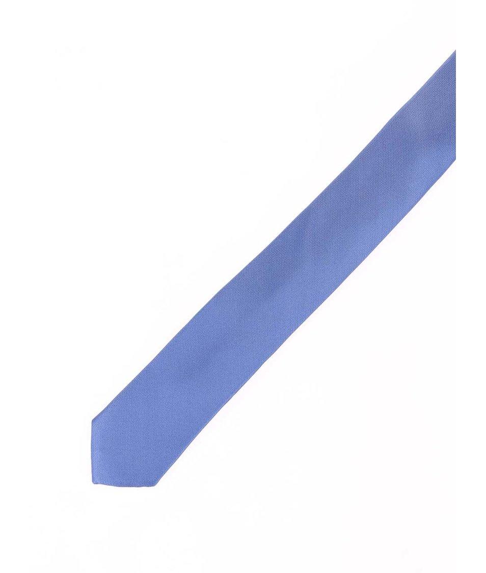 Modrá hedvábná kravata Selected Plain