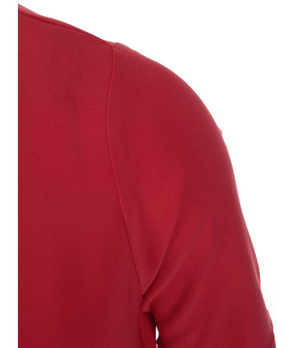 Červená halenka s atypickým výstřihem Dorothy Perkins