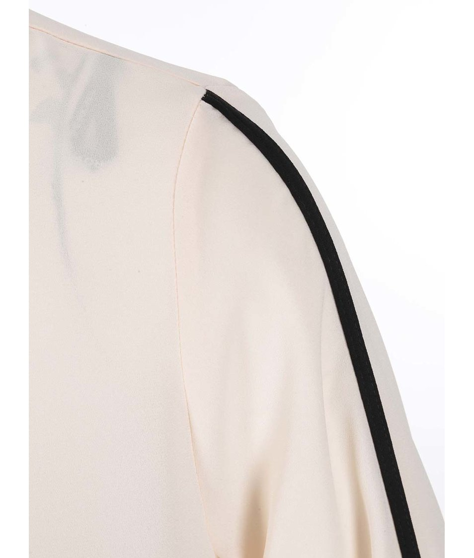 Krémový top s černými detaily Dorothy Perkins