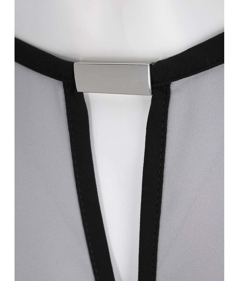 Šedý top s černými detaily Dorothy Perkins