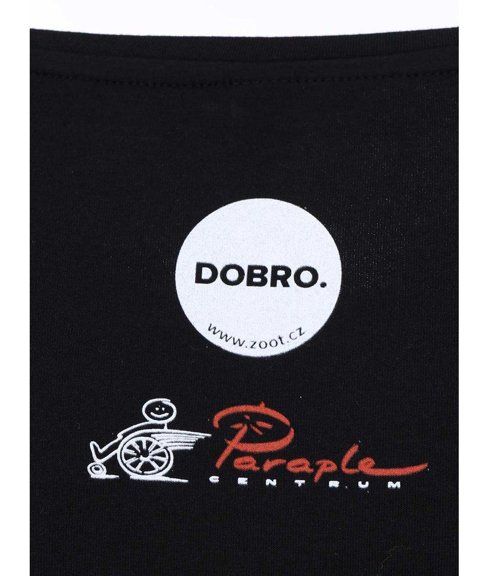 """""""Dobré"""" černé dámské tričko pro Paraple"""