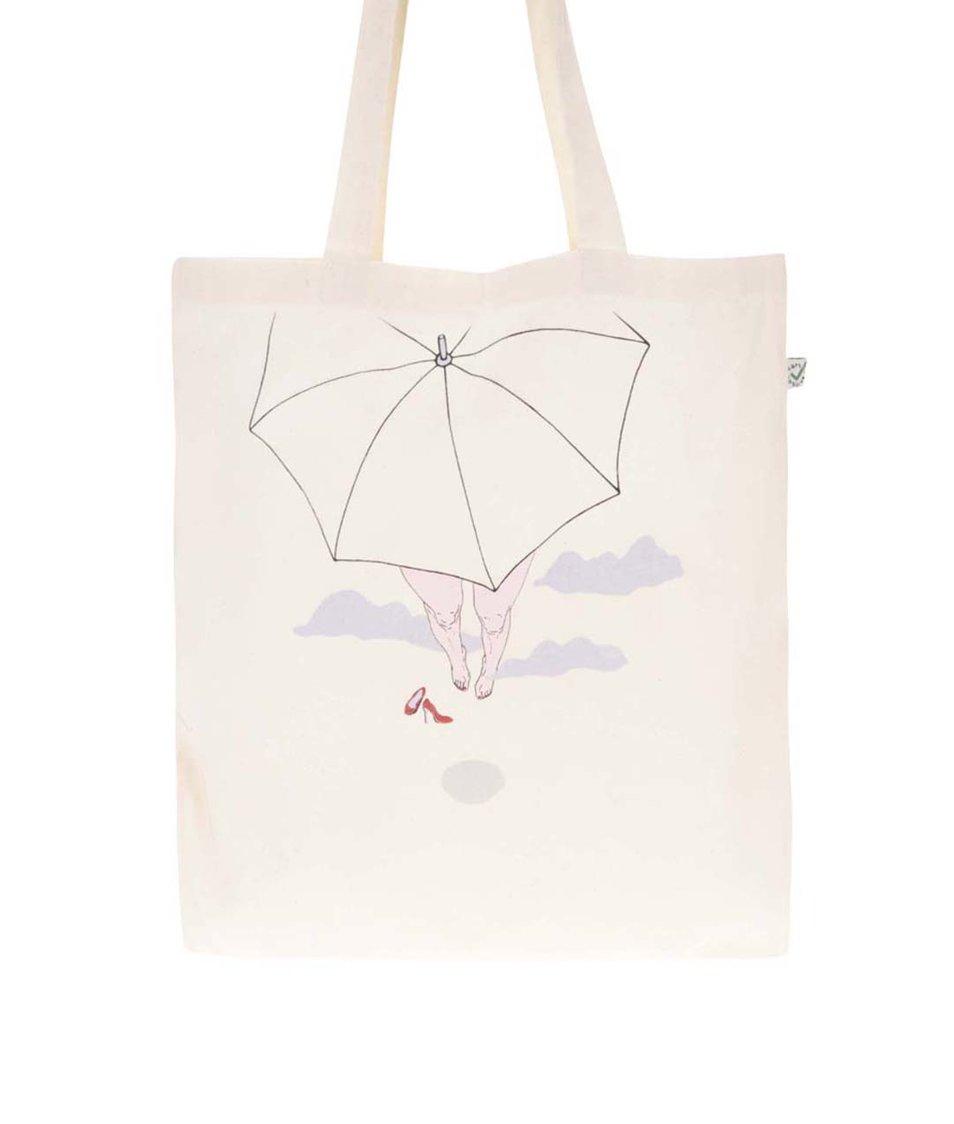 """""""Dobrá"""" krémová plátěná taška pro Paraple"""