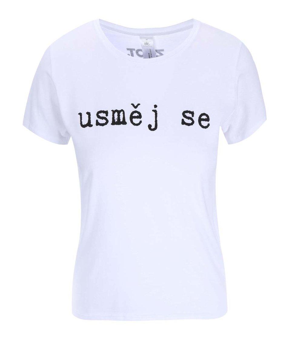 Bílé dámské tričko Pavel Callta Usměj se