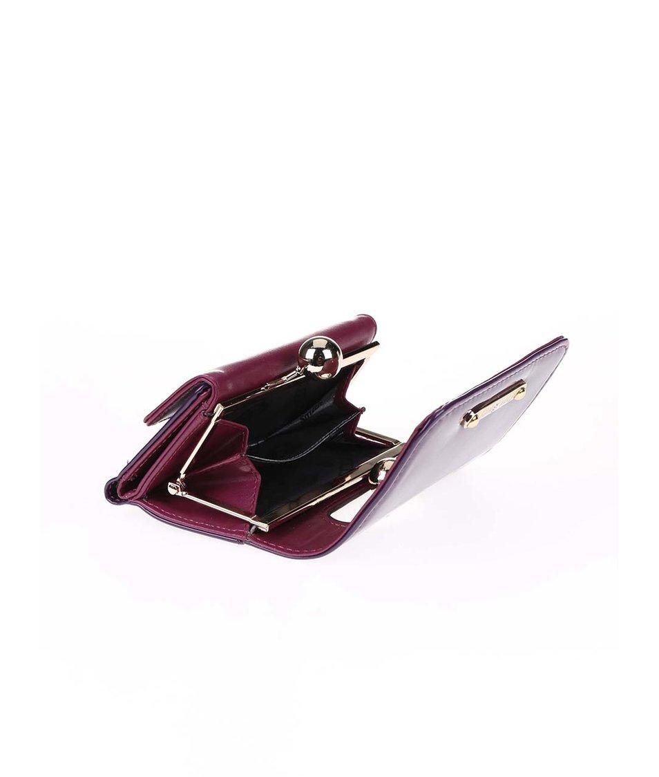 Fialová lakovaná peněženka s retro zapínáním Anna Smith