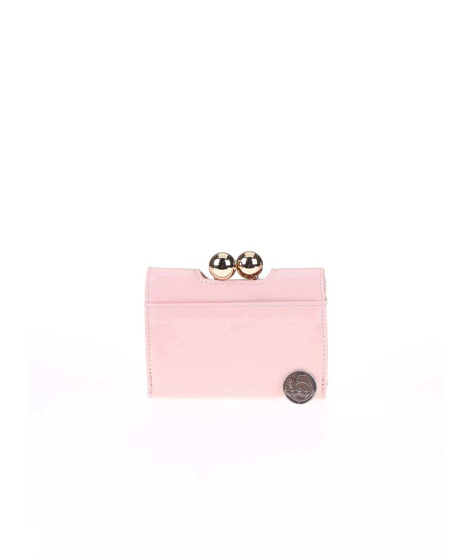 Tělová lakovaná peněženka s retro zapínáním Anna Smith