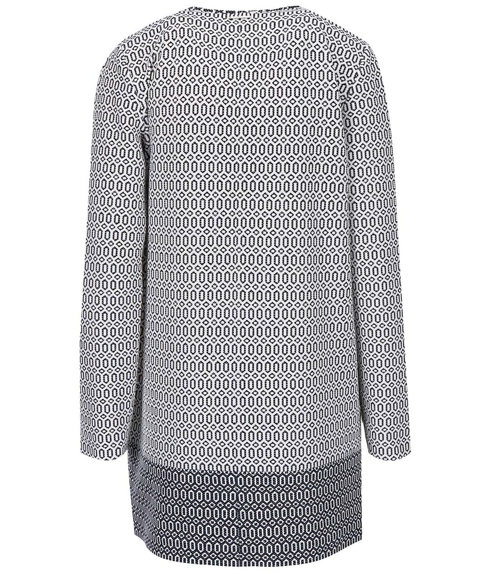 Modro-krémový kabát se vzorem s.Oliver