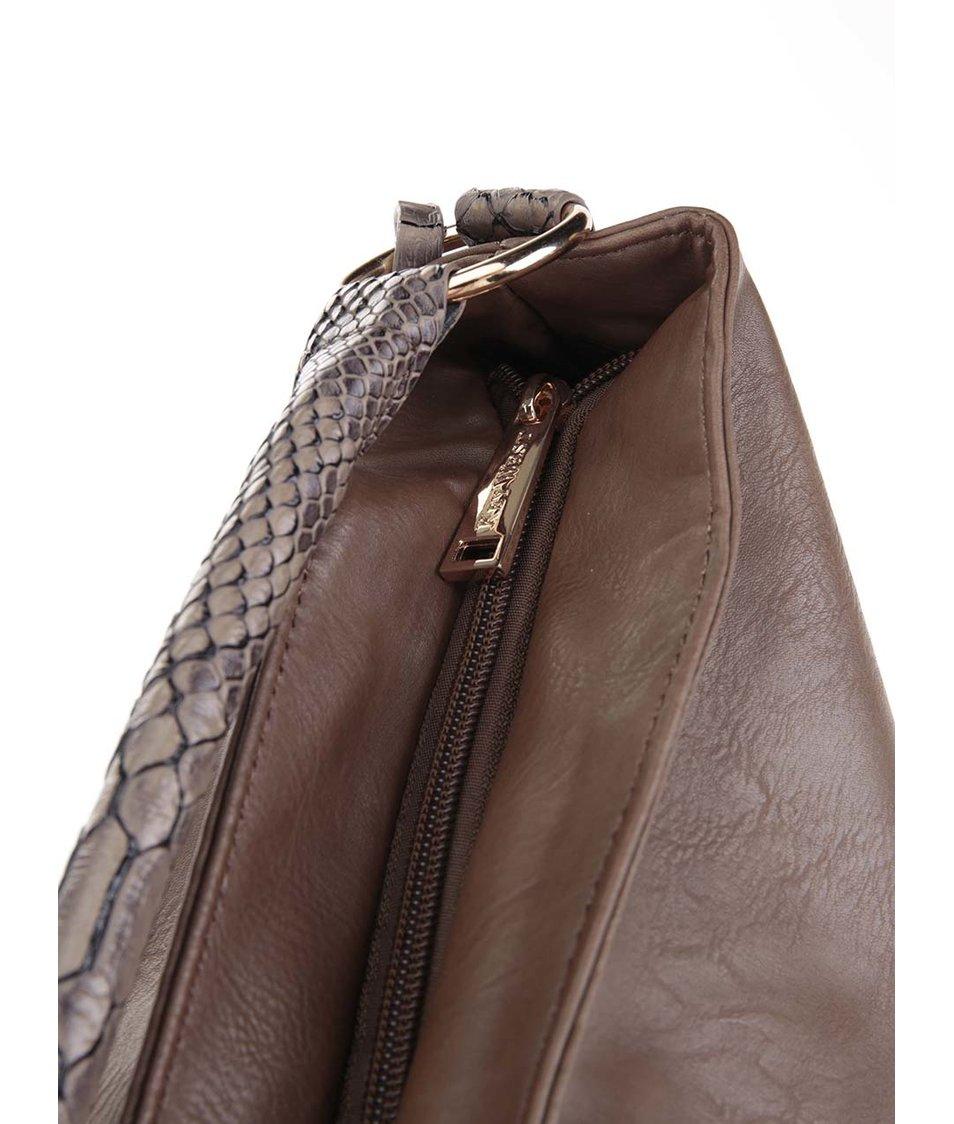 Khaki kabelka s ozdobným zipem Key West