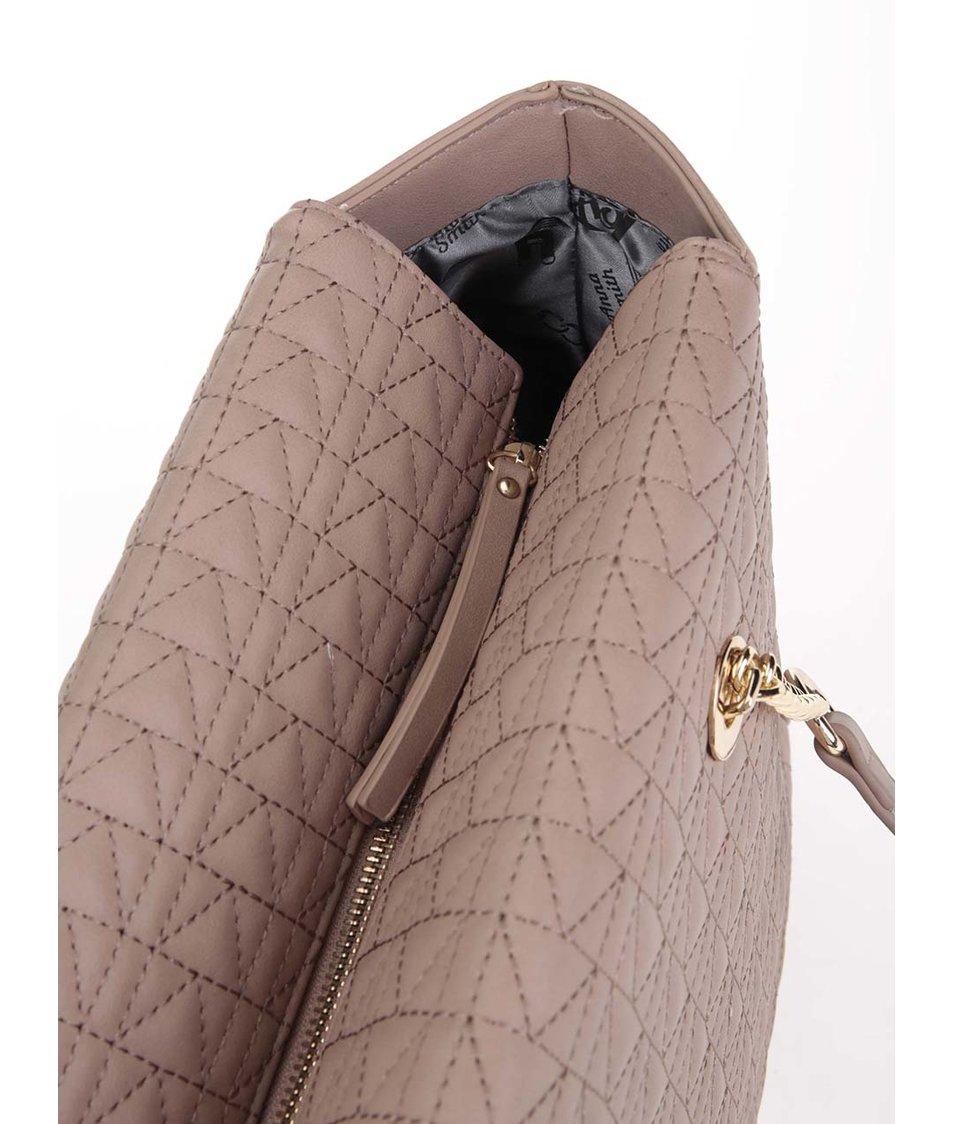 Starorůžová větší kabelka s kombinovanými uchy Anna Smith