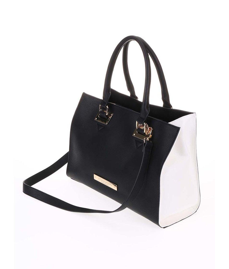 Bílo-černá velká kabelka Anna Smith