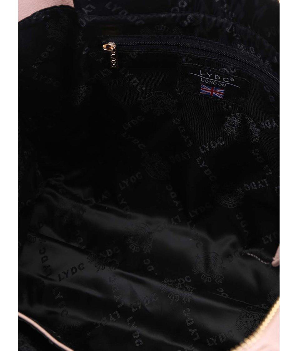 Béžovo-černá obdelníková kabelka LYDC