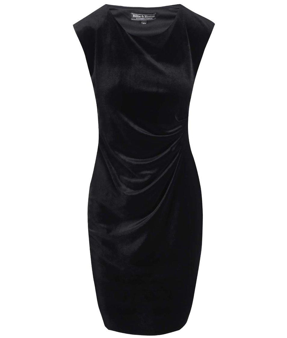 Černé velurové šaty Dorothy Perkins