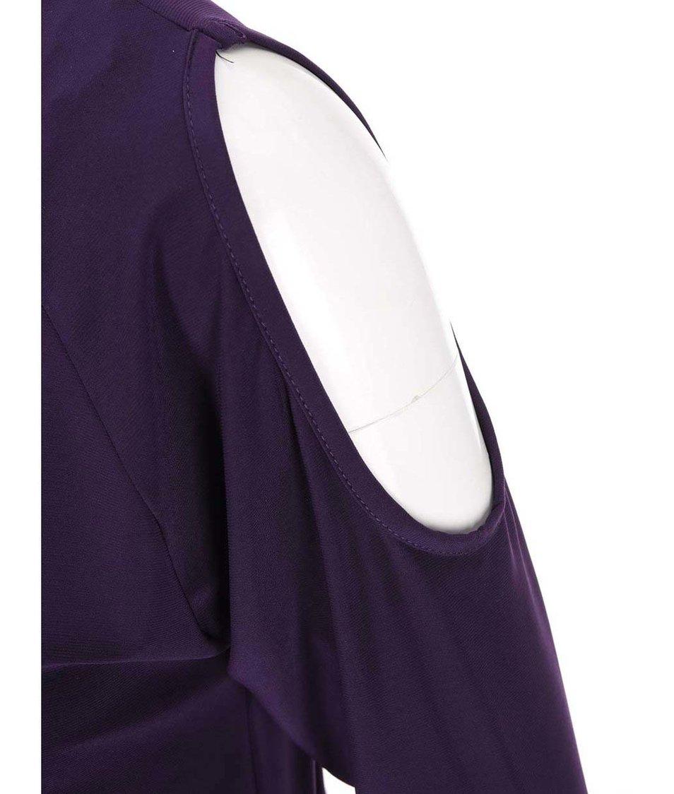 Fialové šaty s vykrojenými zády Dorothy Perkins