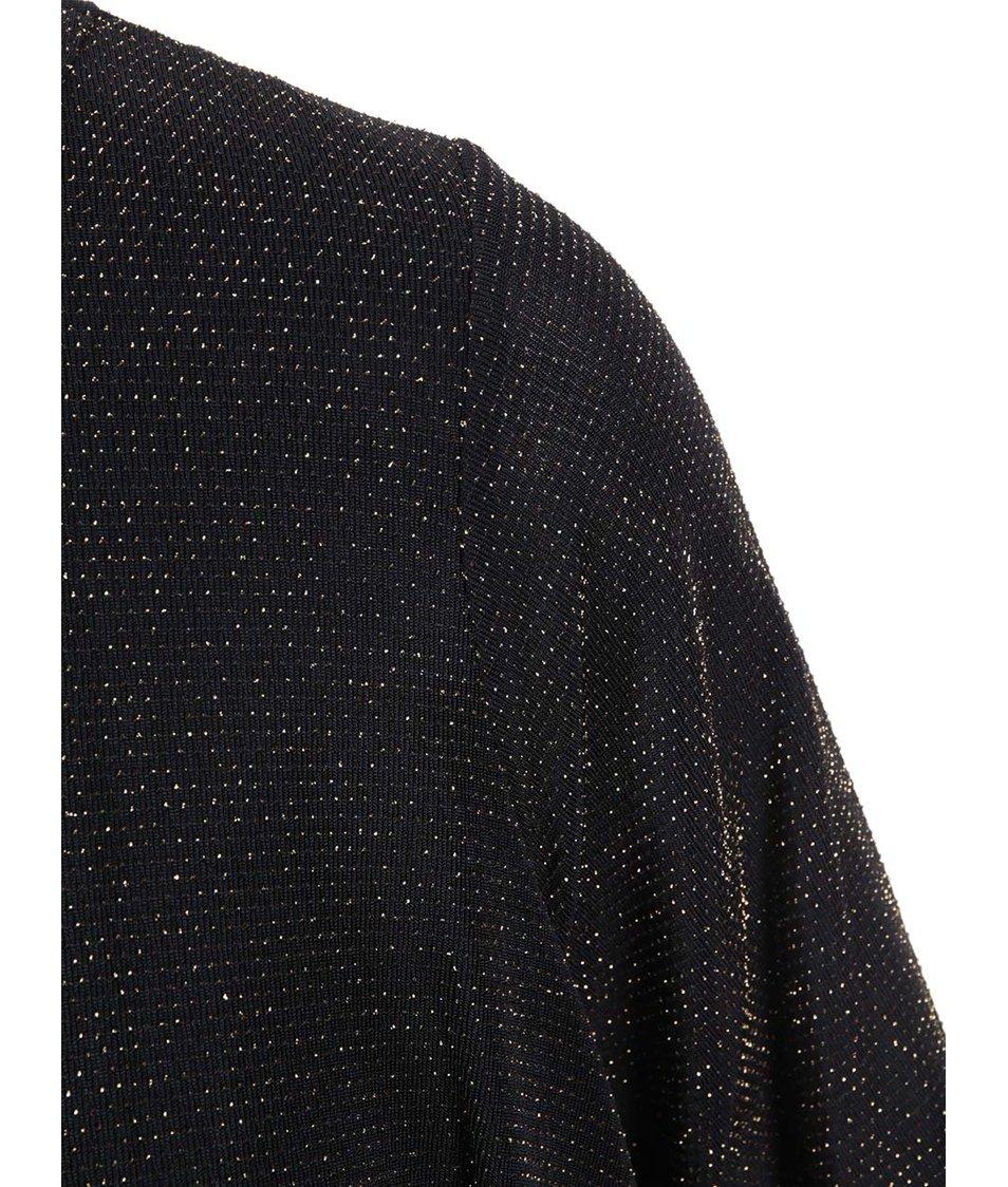 Zlato-černé šaty se zvonovou sukní Dorothy Perkins Curve
