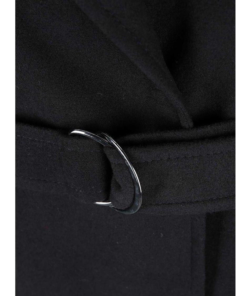 Černý oversized kabát s kapsami Dorothy Perkins