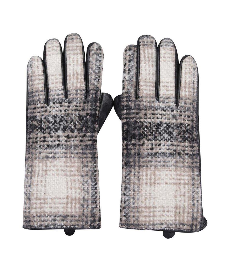 Černé kožené rukavice se vzorem Dorothy Perkins