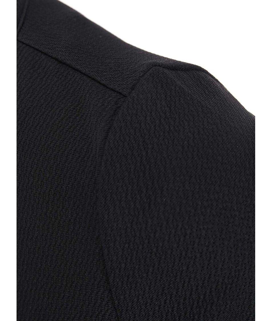 Černé šaty s ozdobným zipem Dorothy Perkins