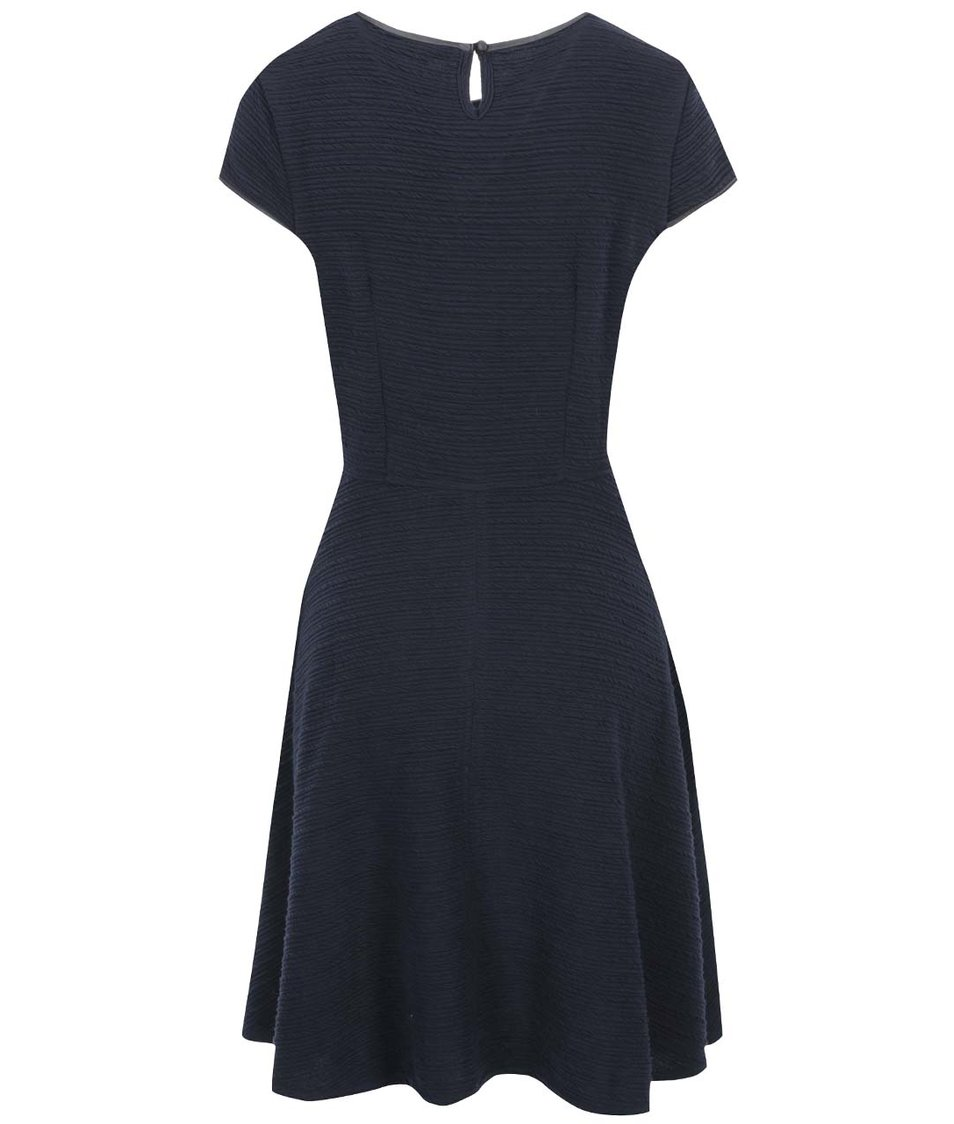 Tmavě modré šaty s koženkovým detailem Dorothy Perkins