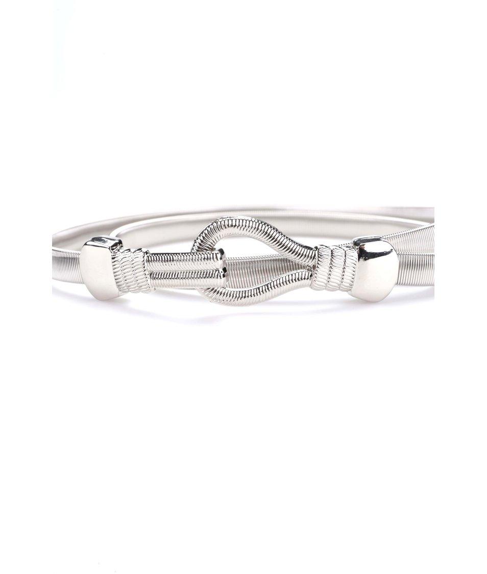 Úzký kovový pásek ve stříbrné barvě Dorothy Perkins