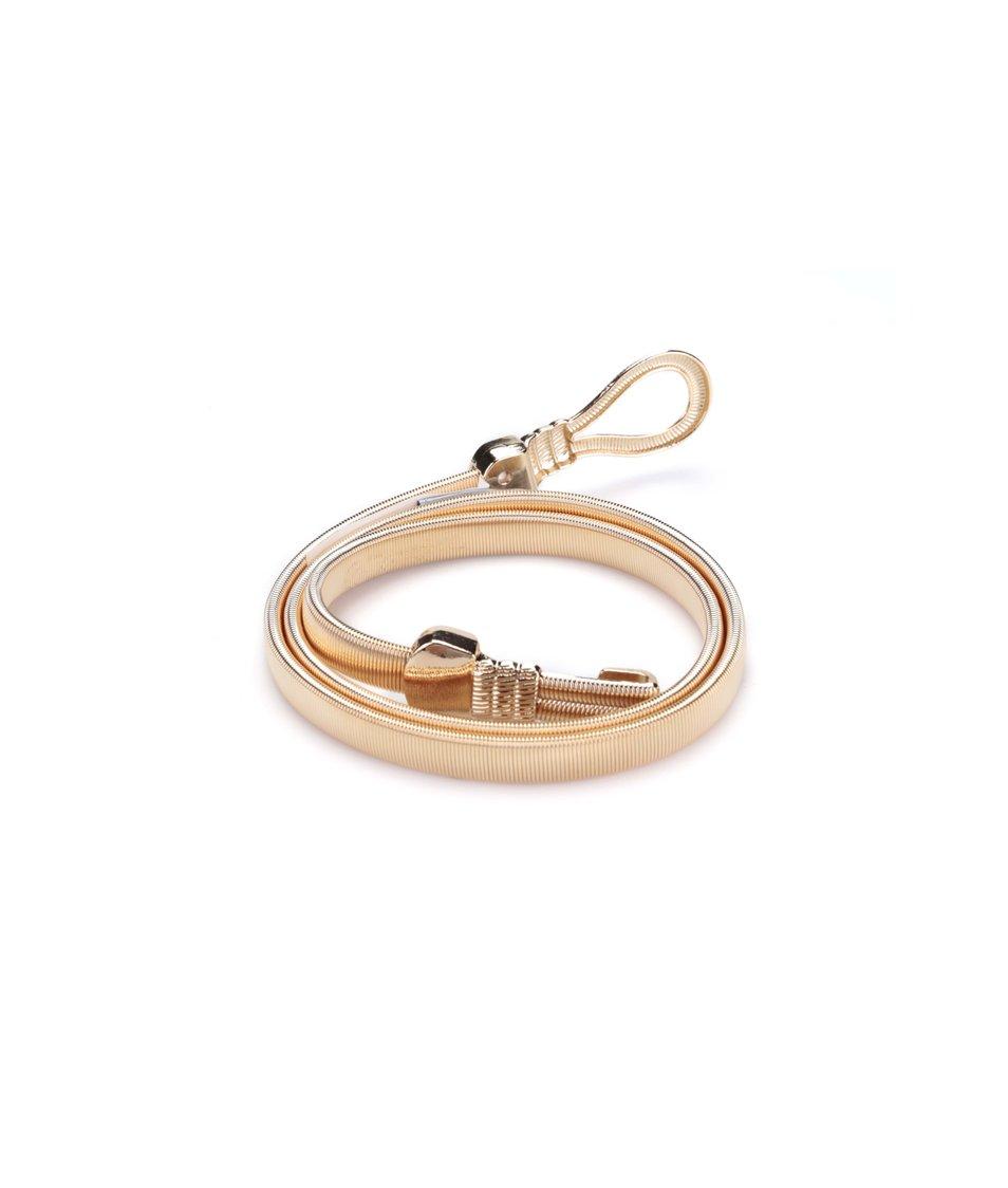 Úzký kovový pásek ve zlaté barvě Dorothy Perkins