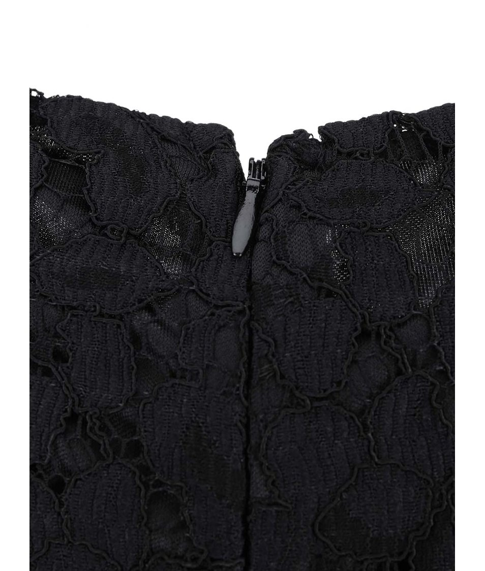 Černé krajkované šaty s 3/4 rukávy Dorothy Perkins Curve