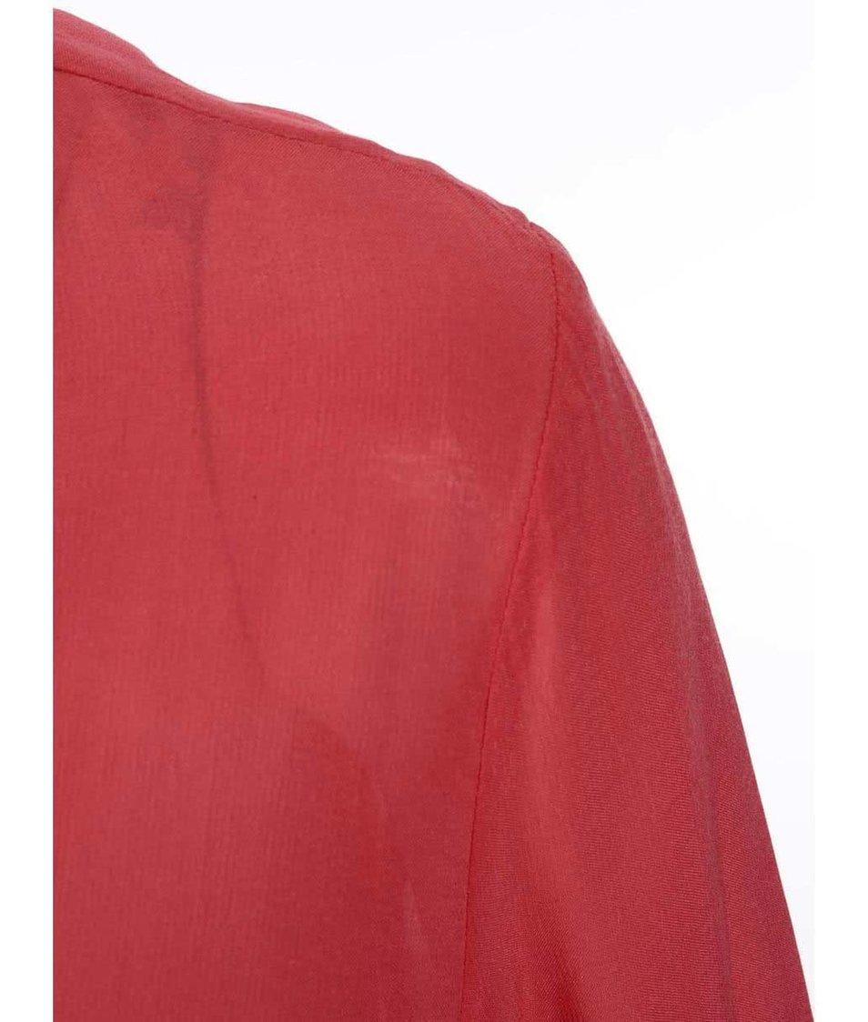 Červená dámská halenka s dlouhým rukávem s.Oliver