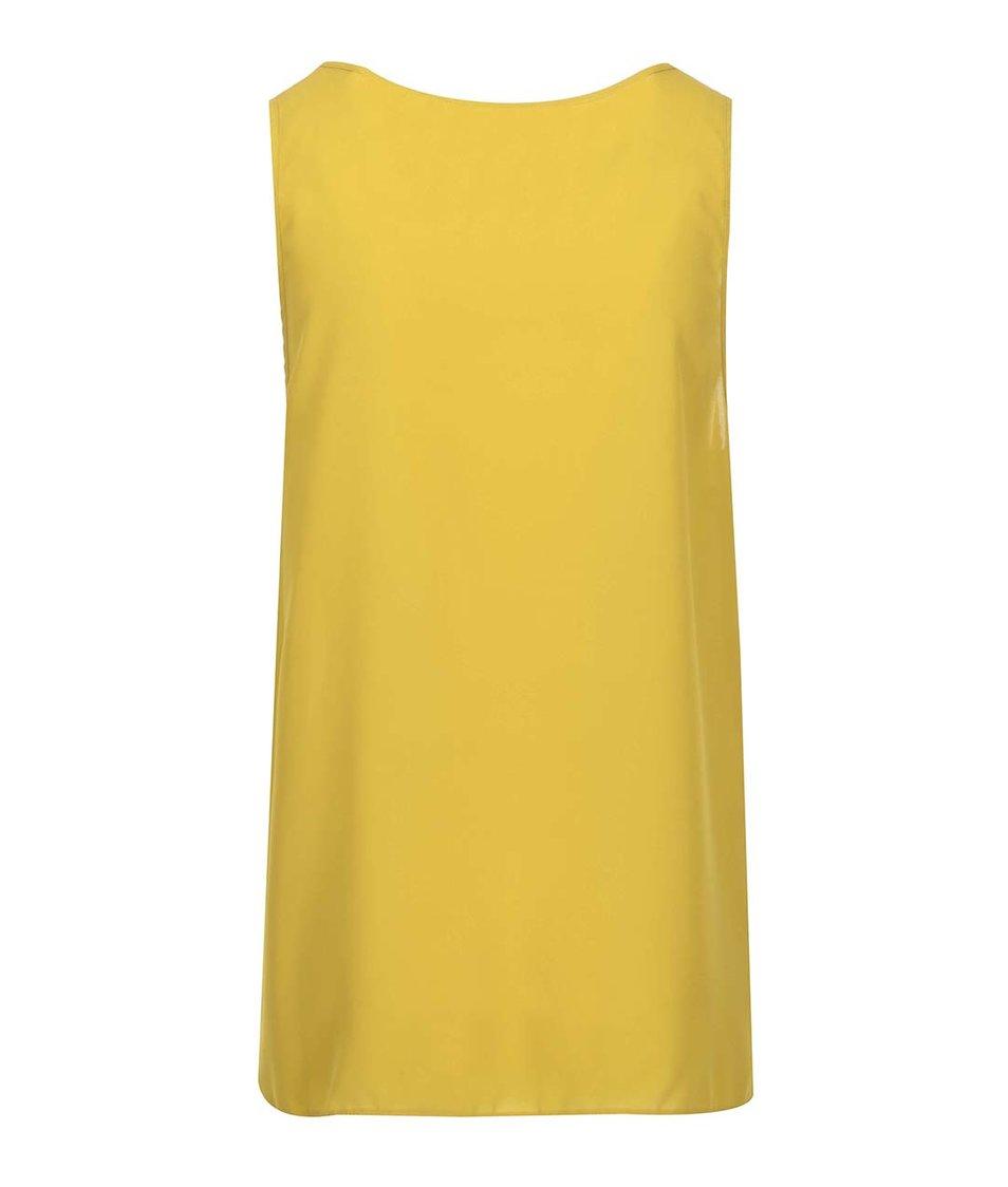 Žlutá halenka bez rukávů Dorothy Perkins