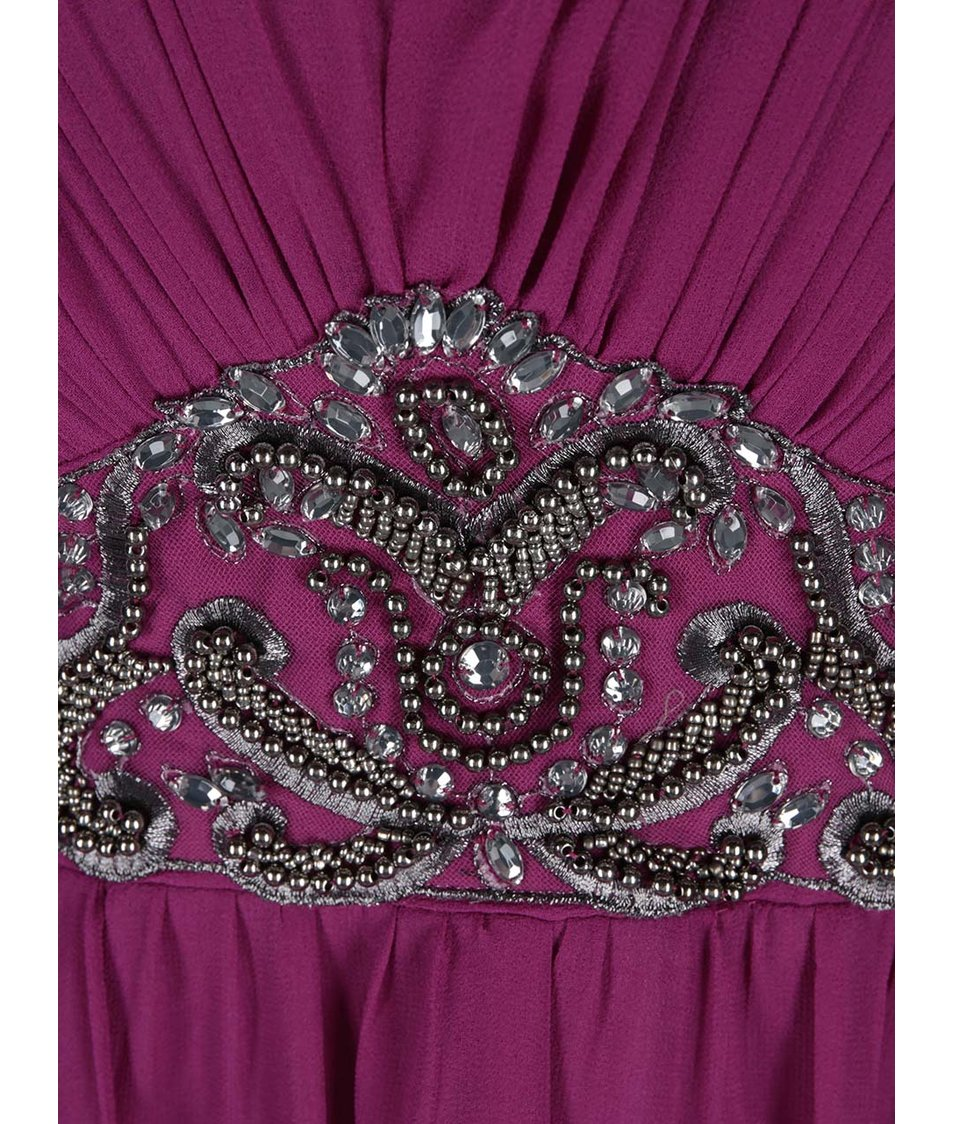 Růžové šaty s ozdobným pasem Dorothy Perkins