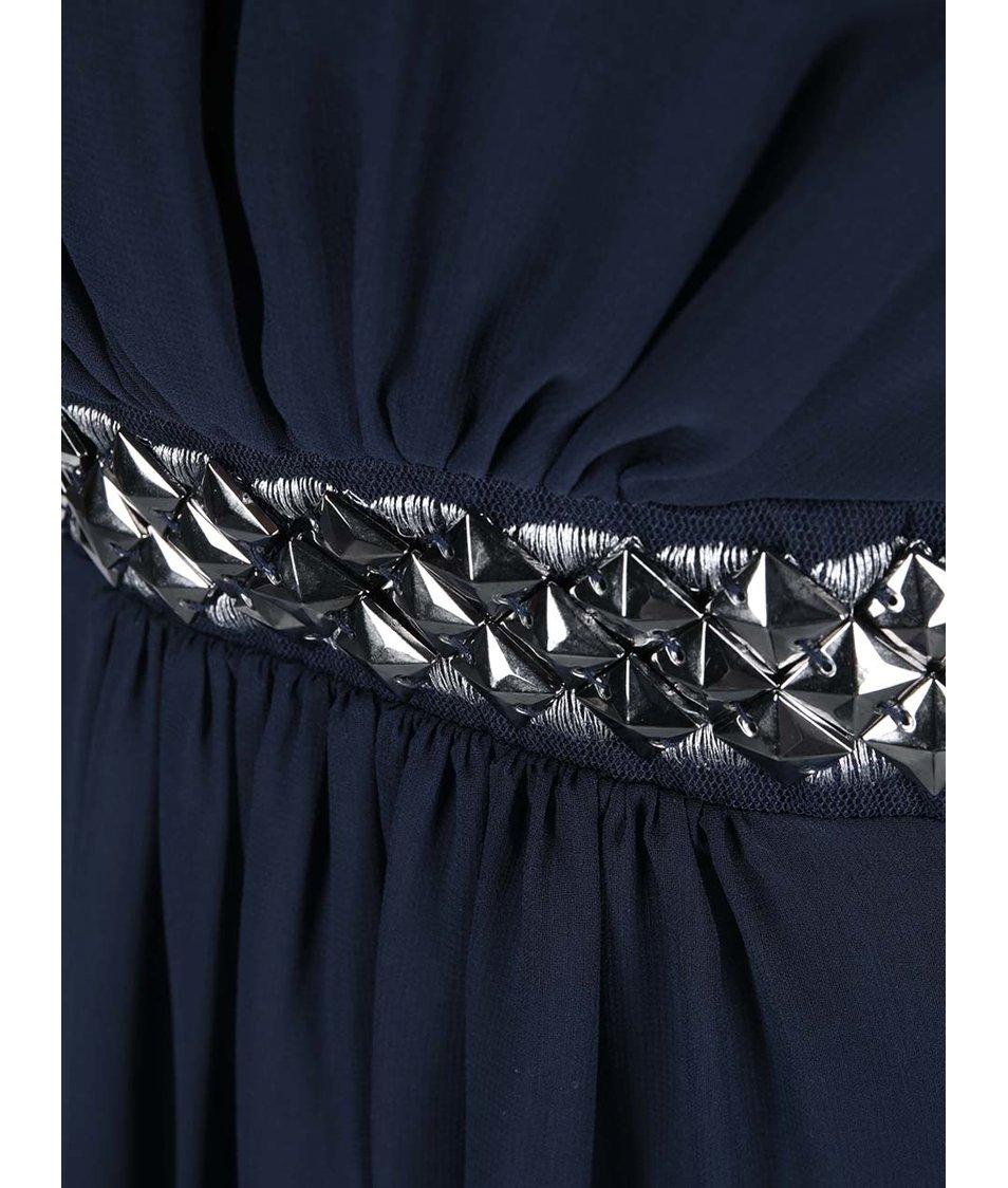 Tmavě modré šaty s páskem Dorothy Perkins Curve