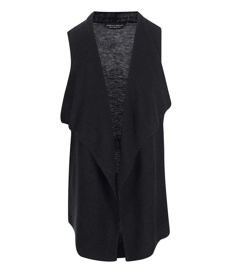Černá cardiganová vesta Dorothy Perkins