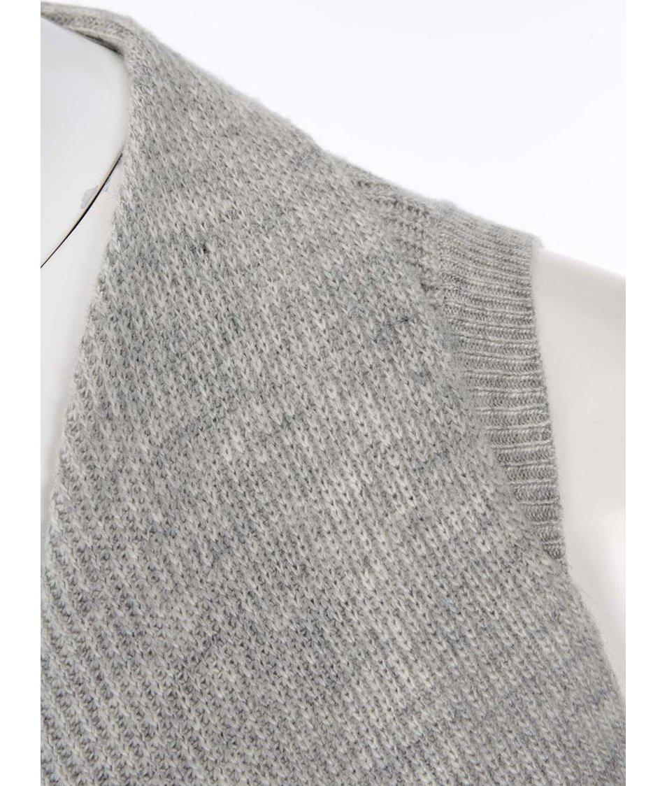 Šedá cardiganová vesta Dorothy Perkins