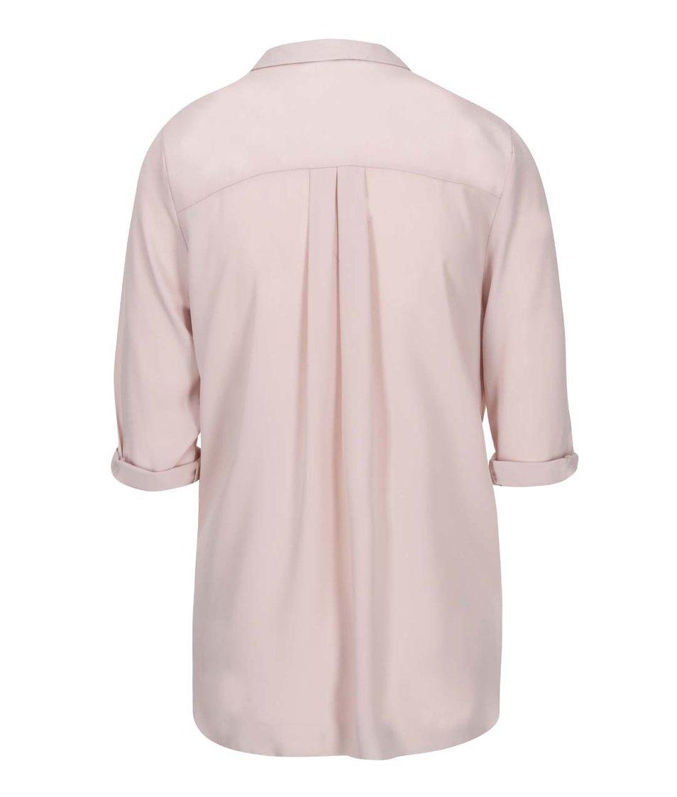 Růžová halenka s límečkem Dorothy Perkins