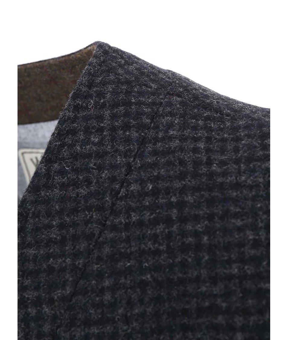 Tmavě šedá vlněná vesta Jack & Jones Jay