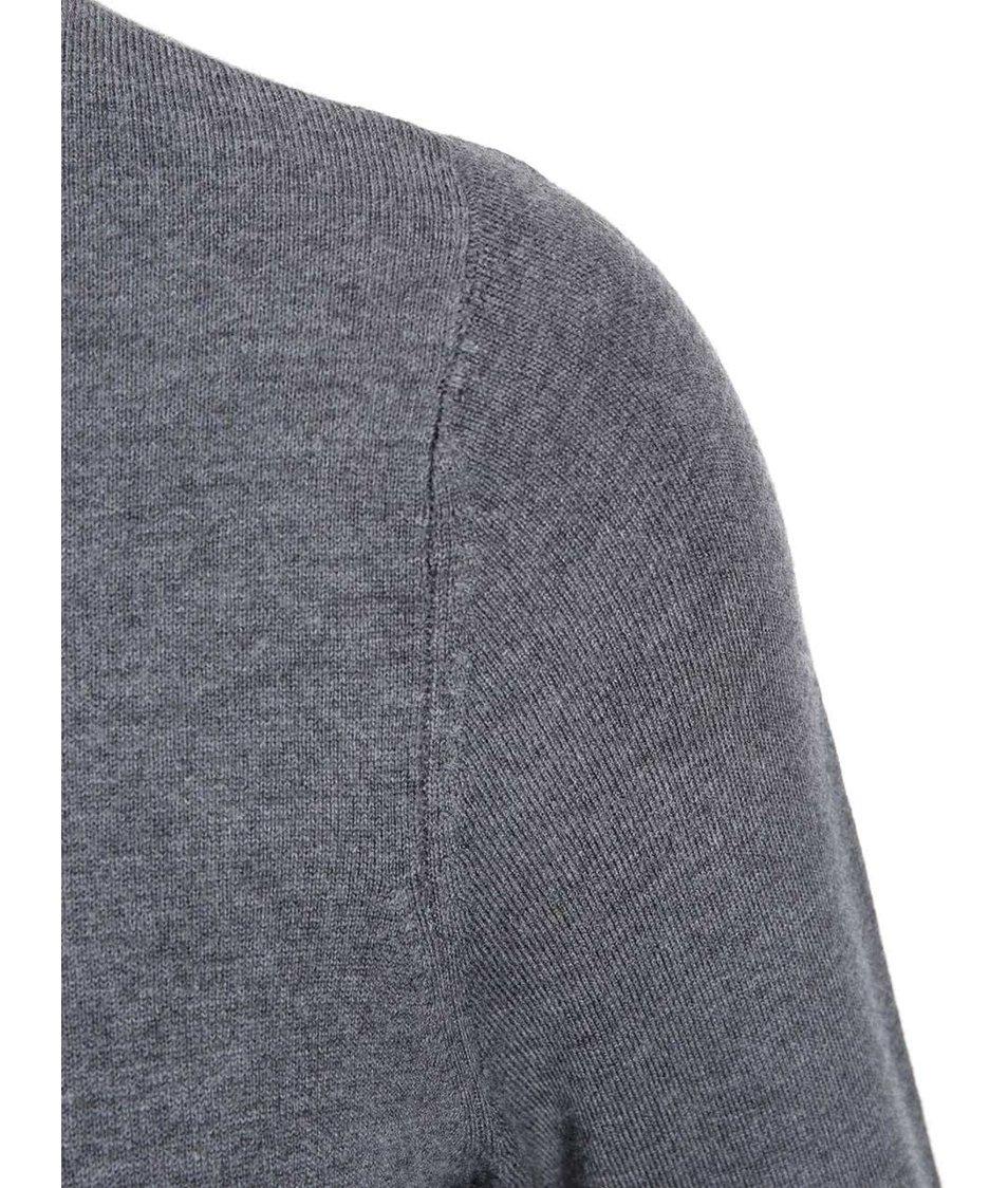 Tmavě šedý delší svetr Dorothy Perkins