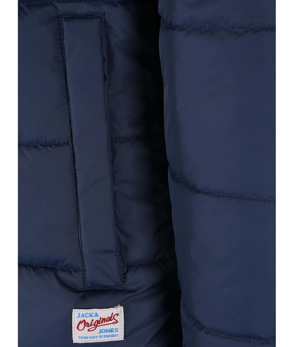 Tmavě modrá prošívaná bunda Jack & Jones Running