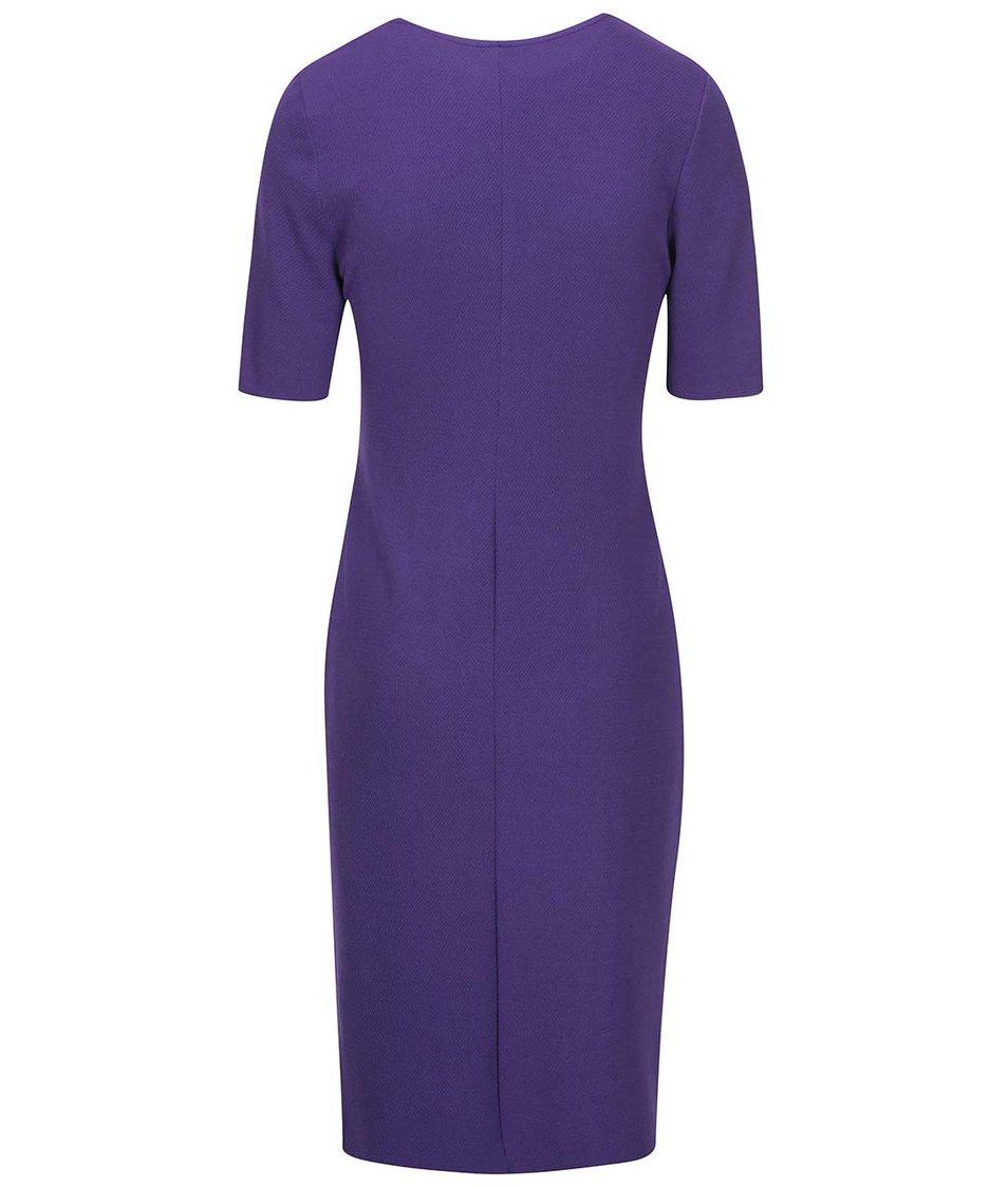 Fialové šaty s 3/4 rukávem Dorothy Perkins