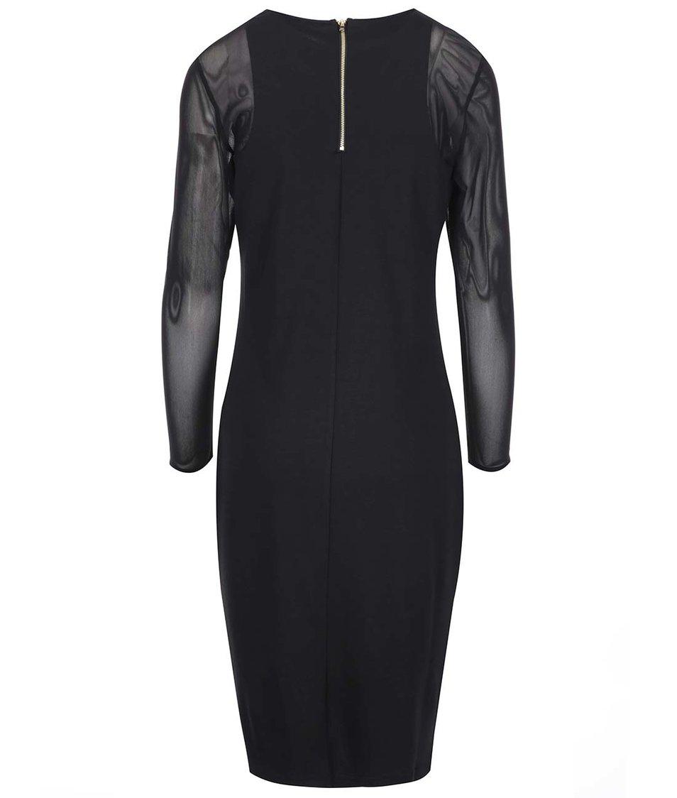 Černé delší šaty Dorothy Perkins