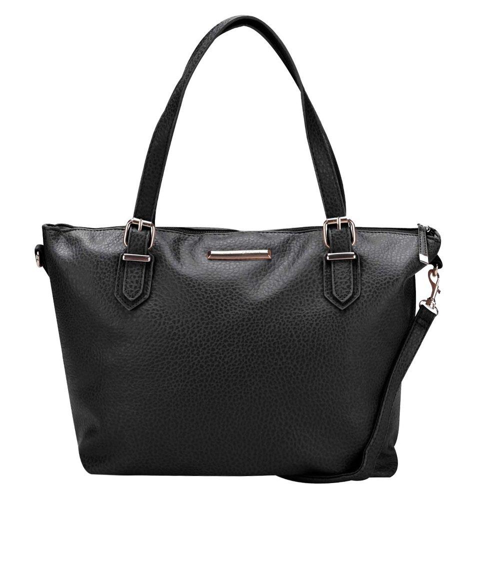 Černá velká kabelka se zlatými detaily Dorothy Perkins