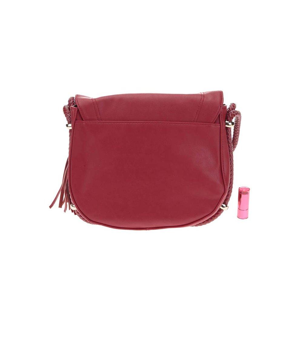 Červená menší kabelka se střapcem Dorothy Perkins