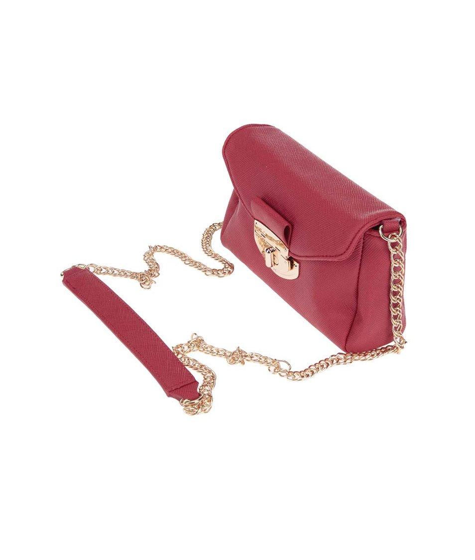 Červená menší crossbody kabelka Dorothy Perkins
